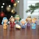 New Holiday Time Children Nativity Set 7 Piece Youth Christmas Decor Display