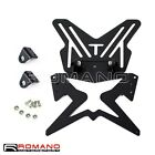 Motorcycle Black Tail Number License Plate Bracket With Mounting Kit Universal