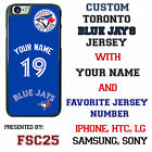Custom Toronto Blue Jays Jersey Phone Case w/ Your Name & # for iPhone
