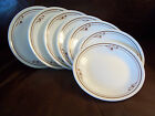 7 Corelle Corning MELODY Bread & Butter Plates Brown Band 6.25