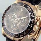 UNWORN ROLEX DAYTONA 116515 18K EVEROSE PINK GOLD CHOCOLATE DIAL BLACK BEZEL