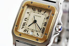Cartier Santos Galbee 18K Solid Gold & Stainless Steel Luxury Watch