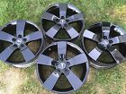 4 NEW 2009 19 OEM PONTIAC G8 GT GLOSS BLACK WHEELS RIMS GXP GTO CHEVY SS MALIBU