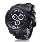 SHHORS Men Quartz Wrist Watch Silicone Band with Three 3D Dials - Free Shipping