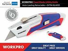 WORKPRO Metal Retractable Utility Knife Auto Loading Fixed Blade for craftsman