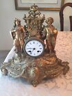 Antique French Gilded Mantle Clock By Duplan  Salles PARIS
