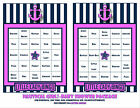 Nautical Baby Girl- Shower Bingo Game Cards (25) with decorative back as shown