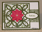 Thank You GREETING CARD KIT Lot of 4 Stampin Up Lattice + Succulent Dies