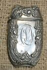 Antique Sterling Silver Match Safe/Holder-Fancy Victorian Scroll Design