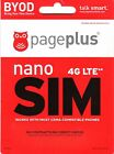 PAGE PLUS 4G LTE NANO SIM CARD VERIZON WIRELESS NETWORK