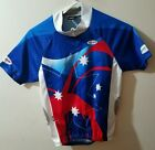 Vintage Blue TEAM AUSTRALIA Cycling Jersey Man Small
