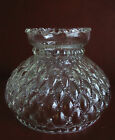 Vintage 7 Fitter Clear Glass Quilted Diamond Shade for Hurricane Table Lamp