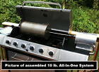 NEW 10 LB CAPACITY OUTDOOR COFFEE ROASTER. DRUM-ROD-GRILL-60 RPM MOTOR