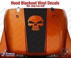 Skull Hood Blackout Vinyl Decal fits Jeep CJ5 CJ7 CJ8 Scrambler Renegade