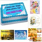 EDIBLE CAKE TOPPER PHOTO IMAGE CUSTOM PERSONALIZED ANY IMAGE ENGLISH SPANISH