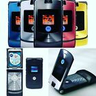 Motorola RAZR V3 Unlocked flip Mobile Phone New Condition Silver Black Blue