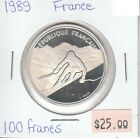 France 100 Francs 1989 Silver Circulated