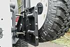 Fab Fours Black JK Rear Tire Carrier For Base Bumper For 07 17 Jeep Wrangler JK