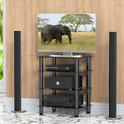 Fitueyes Audio Components Rack AV Tower Media Stand Entertainment Center Shelves