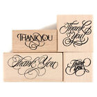 Vintage Thank You Wooden Rubber Stamp Craft Wedding Party 4 Styles To Choose FV