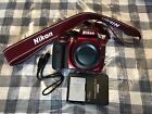 Nikon D3300 242 MP Digital SLR Camera Red Body Only USA ONLY