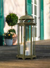 Large 244 in Metal Moroccan Hanging Candle Lantern Clear Glass