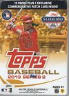 2013 Topps Series 2 Retail Blaster Factory Sealed 10 Packs + 1 Commerative Patch
