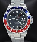 Rolex GMT Master Pepsi 16710 Blue/Red 40mm Steel Oyster Watch BOX/PAPERS *MINT*