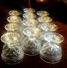 A.H. WEXFORD, CRYSTAL GLASSWARE, VINTAGE 12 PIECES. FOOTED SHERBERT DISHES