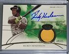 2014 Topps Tier One RICKEY HENDERSON Autograph Relic Jersey Patch 83 99