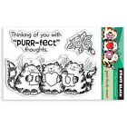 New Penny Black PURR FECTLY SWEET Mini Clear Stamp Love Friends Cats Valentines