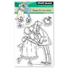 New Penny Black KISSES FOR MY SWEET Mini Clear Stamp Love Couple Heart Forever