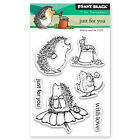 New Penny Black JUST FOR YOU Mini Clear Stamp Critters Love Mice Flowers Friends