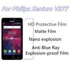 3pcs For Philips Xenium V377 HD Clear Matte Nano Explosion Anti Blue Ray Film