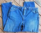 Mens Vintage 70s 80s ROEBUCKS Jeans Size 44 X 32 Dark Blue Denim USA EUC AK