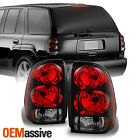 Fit 02 09 Chevy Trailblazer Red Clear Taillights Brake Lamps Replacement
