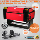 60W CO2 Laser Engraving Cuter Rotary A-AXIS ENGRAVER AIR ASSIST DSP CONTROL