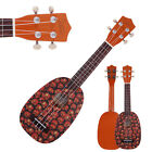 New 21 Pineapple Pattern Basswood 4 string Soprano Ukulele Multicolor