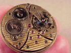 21 Jewel Tavannes Pocket Watch Movement for Parts or Repair #90