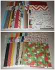 Huge 12x12 Double Sided Scrapbook Paper Lot All Echo Park  Simple Stories