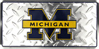 Michigan Wolverines Diamond License Plate Sign Made in the USA