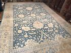 Decorative Light blue Large Persian handmade  sultanabad rug size 12'5
