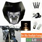 Black Dual Sport Dirt Bike Headlight Fairing For Suzuki RMZ KTM SX 17/14 85 US