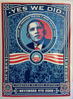5 Shepard Fairey Official Obama 08 Yes We Did 45X6 Sticker