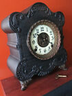 Antique E ingraham 8 Day Mantle Clock Works Great 1880s Patina Galore