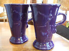2 Fiesta Cappuccino Coffee Mugs Discontinued Hard To Find Heather Color EUC