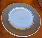 2  Fitz And  Floyd Gray Renaissance Rimmed Chargers/Plates 10 3/4