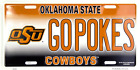 Oklahoma State Cowboys GOPOKES University License Plate Sign Car Truck Made USA