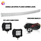 50Inch Curved Windshield Roof Bumper LED Light Bar 93 98 Jeep Grand Cherokee ZJ
