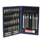 56pc Precision Hobby Knife Set Kit Fine Knives Blades Craft Razor Scrapbooking